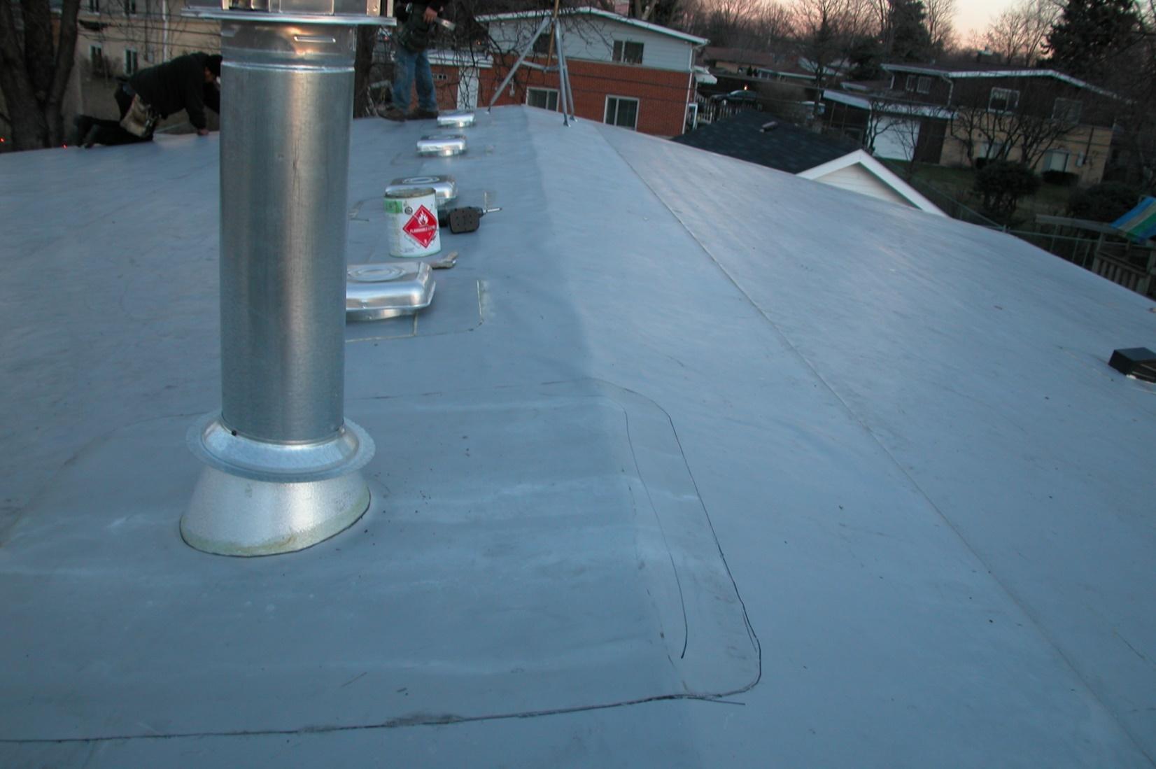 Residential Low Sloped Roof Bott Roofing